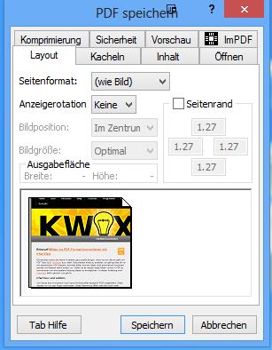 IrfanView-PDF-Speichern Einstellungen