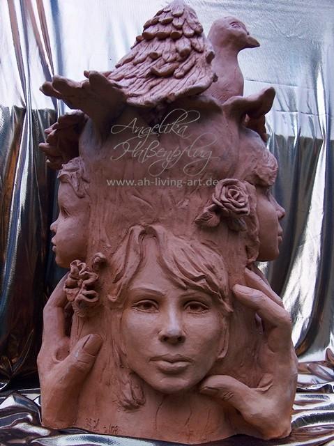 Skulptur aus Ton Unikat Ooak Auftragsarbeit