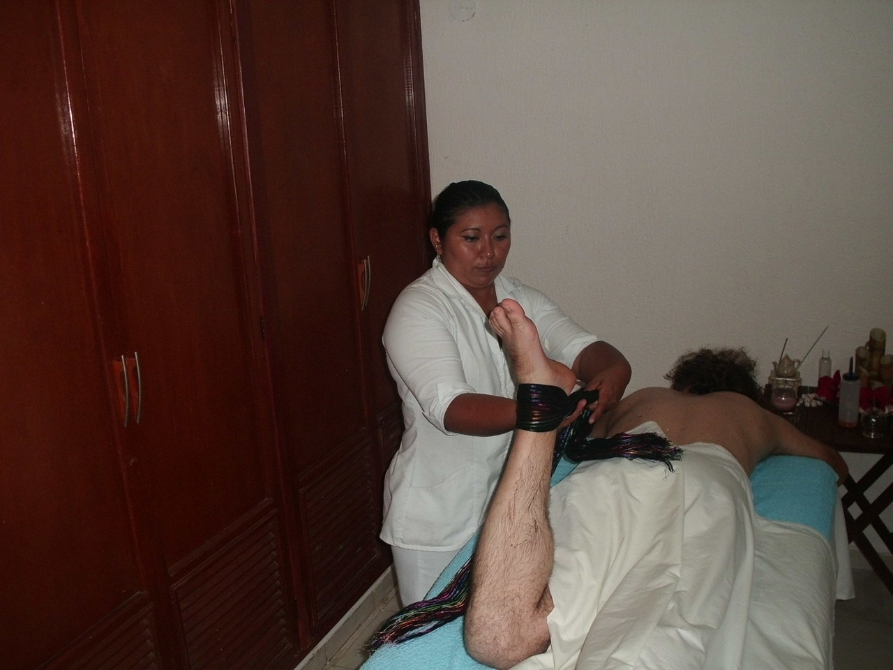 masaje  con lienzos o rebozo maya spa merida