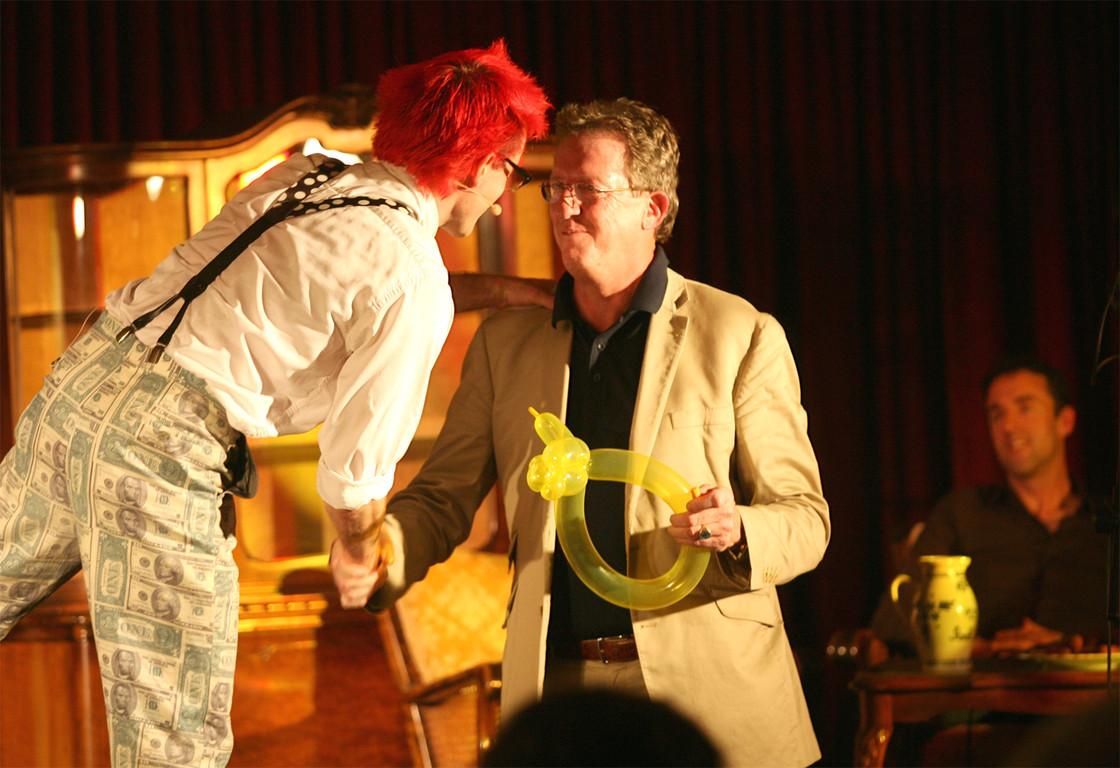 Christoph mit Zuschauer Joachim