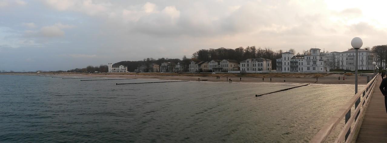 Blick von der Seebrücke in Heiligendamm