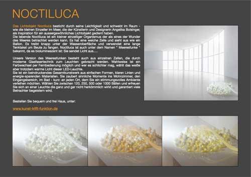 Lichtobjekt Noctiluca von der Kunstagentur Bild und Raum