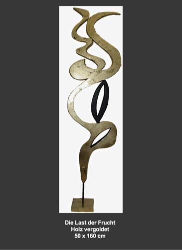 Skulptur mit Blattgold