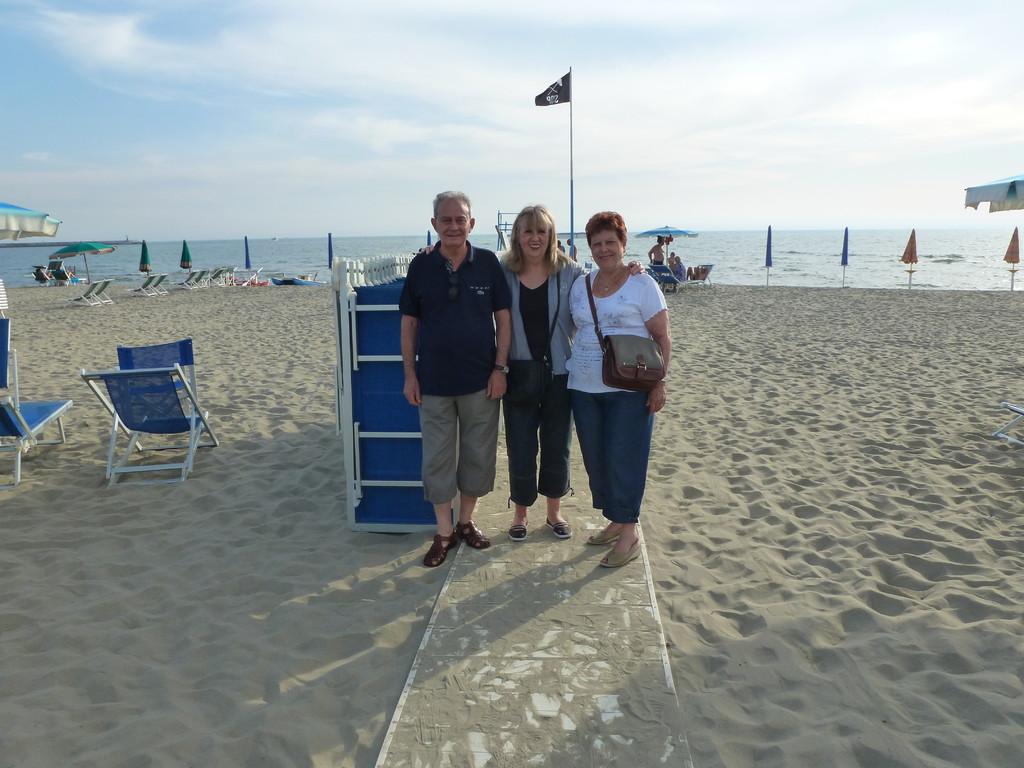 Sur la plage de Viareggio