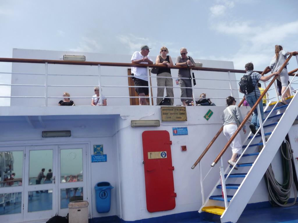 Sur le ferry en direction de l'Ile d'Elbe