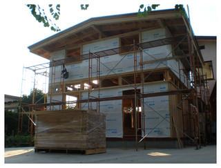 2011.07.07 外壁面 透湿防水シート施工