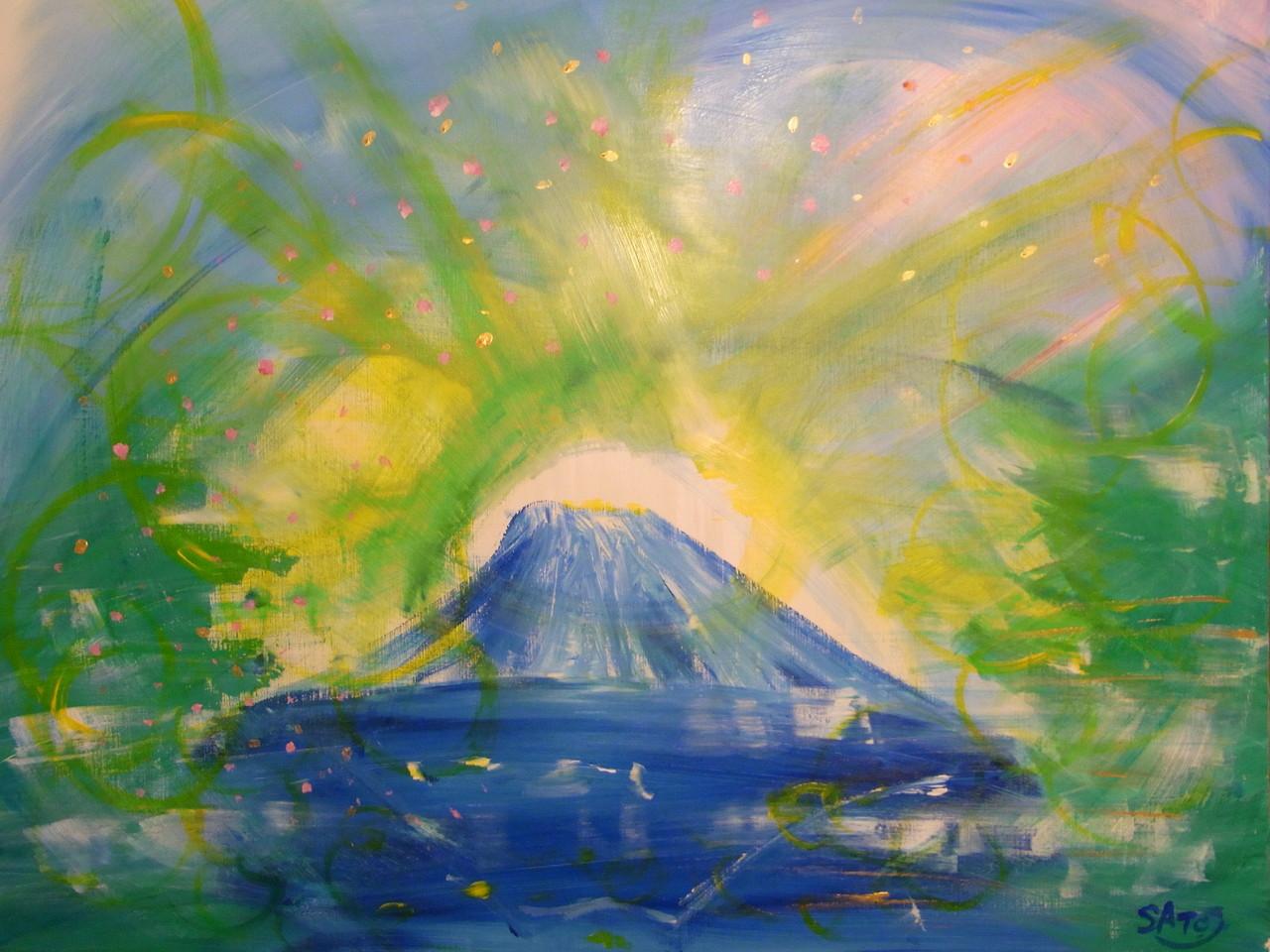 山中湖の似顔絵 2013年