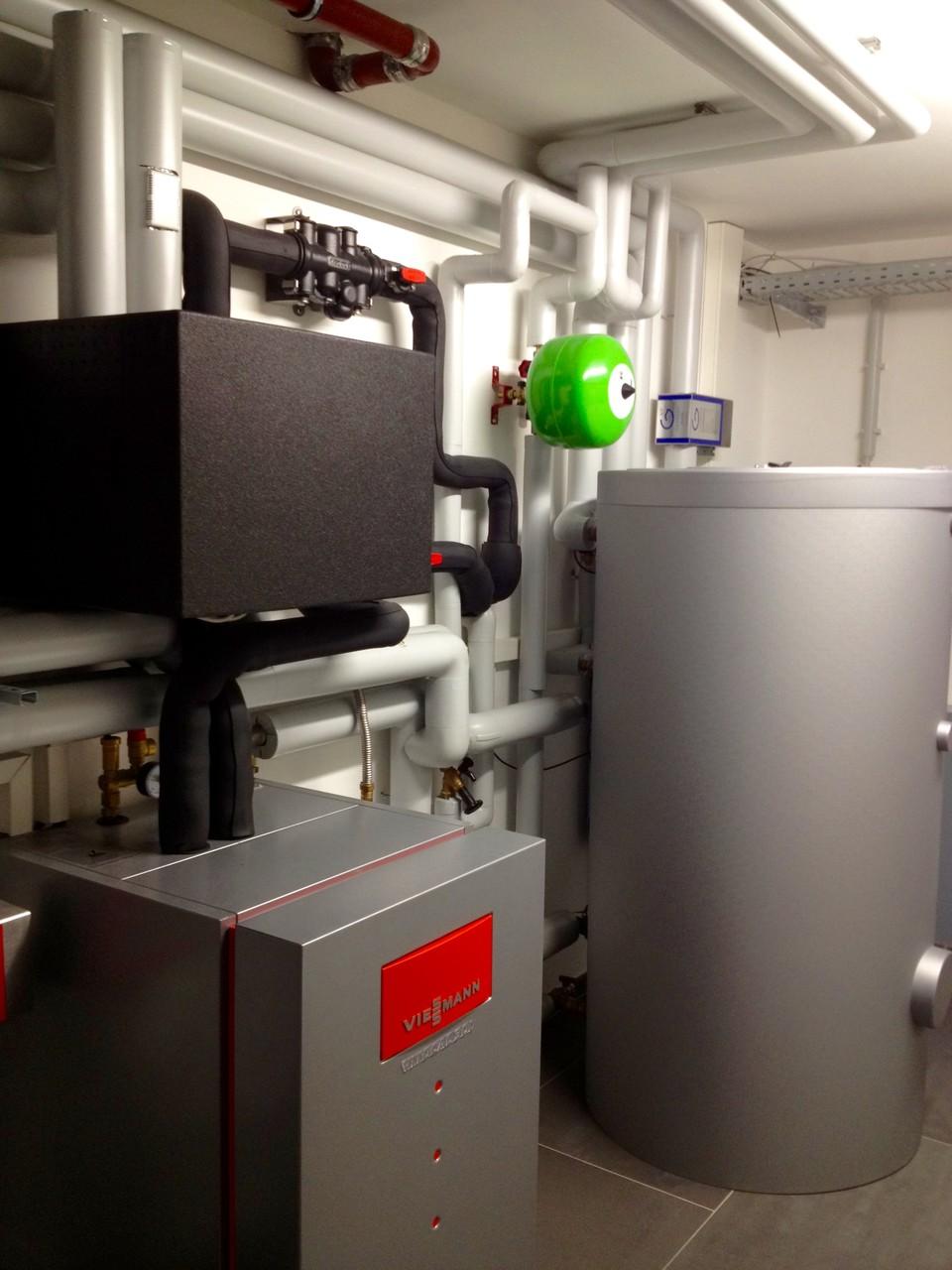 Sole-Wasser-Wärmepumpenanlage im Haus B. in Bad Nauheim