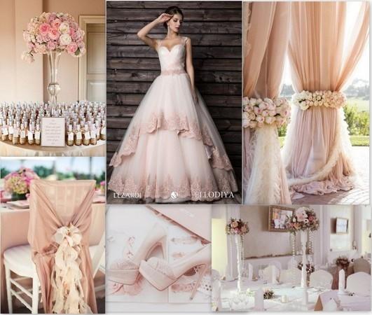 Свадебный стиль, пудровая свадьба