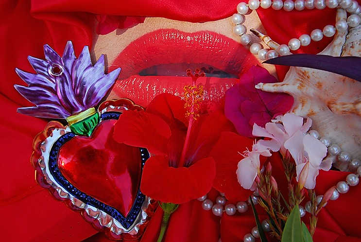 Christine Spengler. Yeux et bouches. La flor del deseo