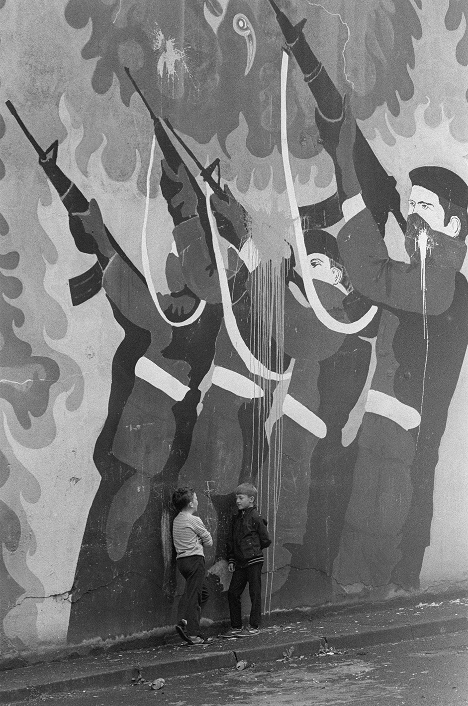 &#169Christine Spengler - Irlande du Nord. Londonderry, 1987.