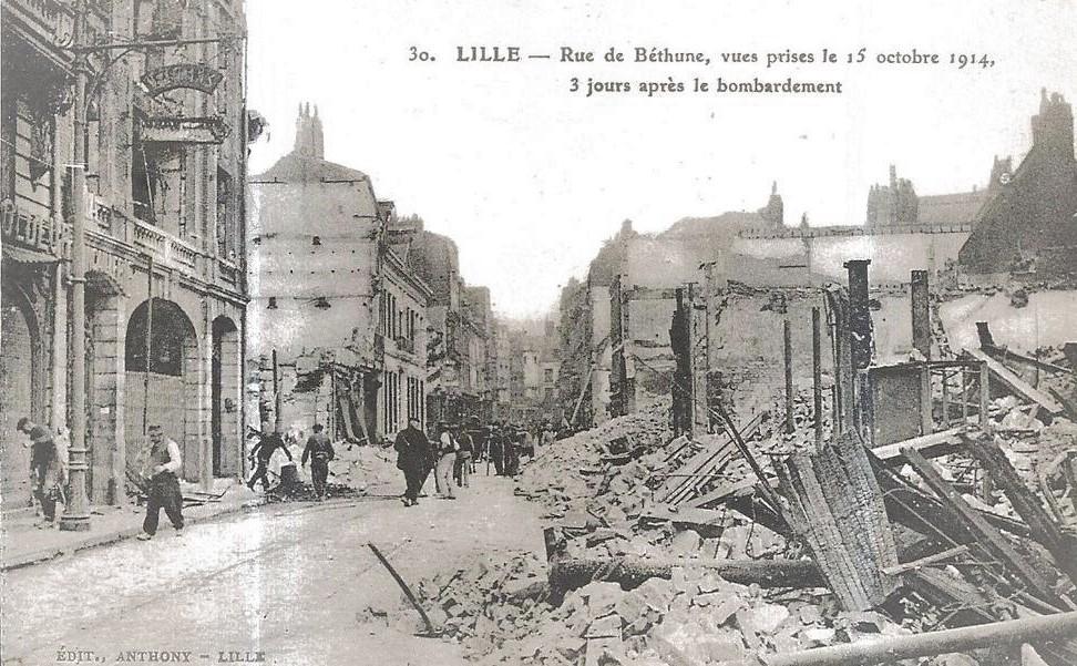 Octobre 1914, désolation rue de Béthune