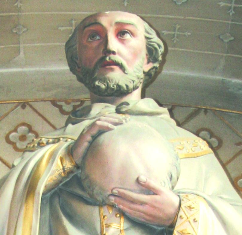 Statue de Saint Piat - Chapelle du transept, Collégiale St Piat de Seclin (Nord)