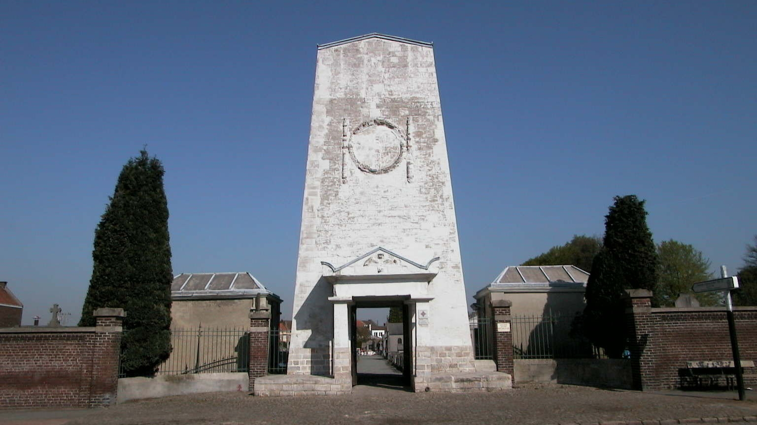 Cemetery's Monumental Gate in the Seclin's centre