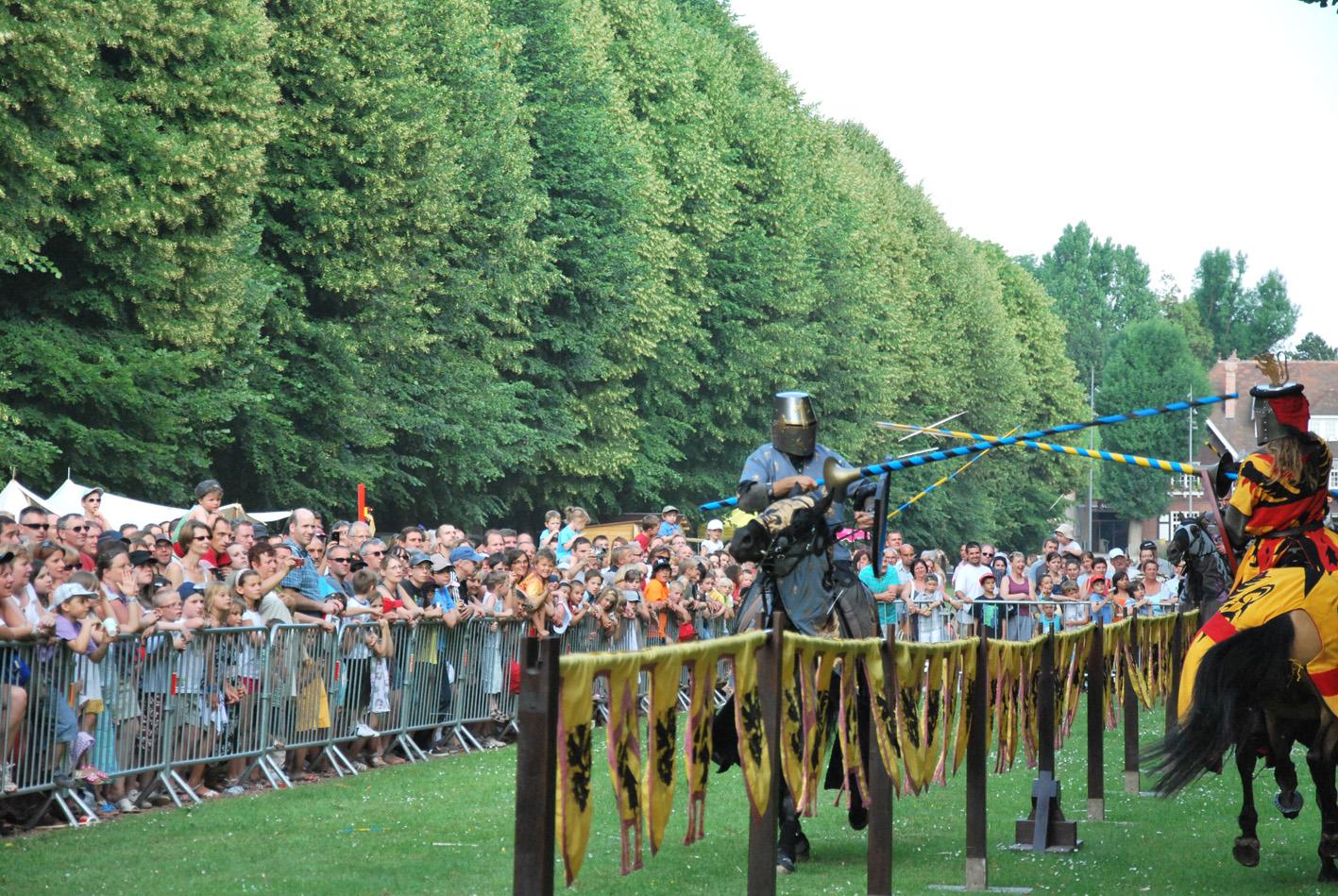 Tournoi de chevalerie sur la Drève (Fête des Harengs 2010)