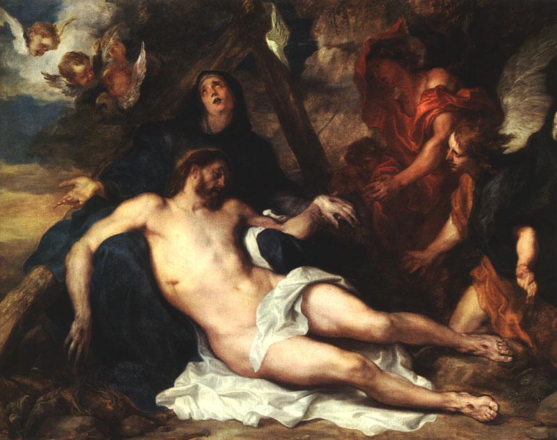 Anthony Van Dyck - La Descente de Croix - 1634 - Tableau exposé à Munich