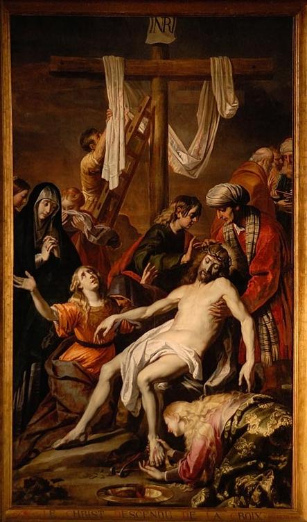 """Gérard Seghers - """"Descente de Croix"""" - Huile sur toile - 420 x 250 cm - Trésor de la cathédrale de Liège"""