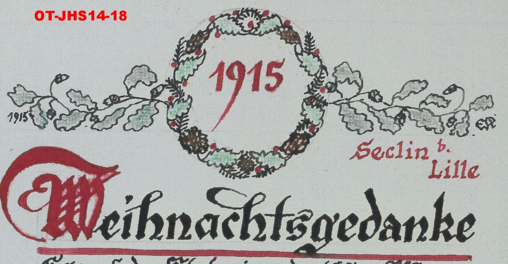 mignonne bas prix beaucoup de styles SECLIN 1914-1918 - Noëls de guerre - Seclin et Environs ...