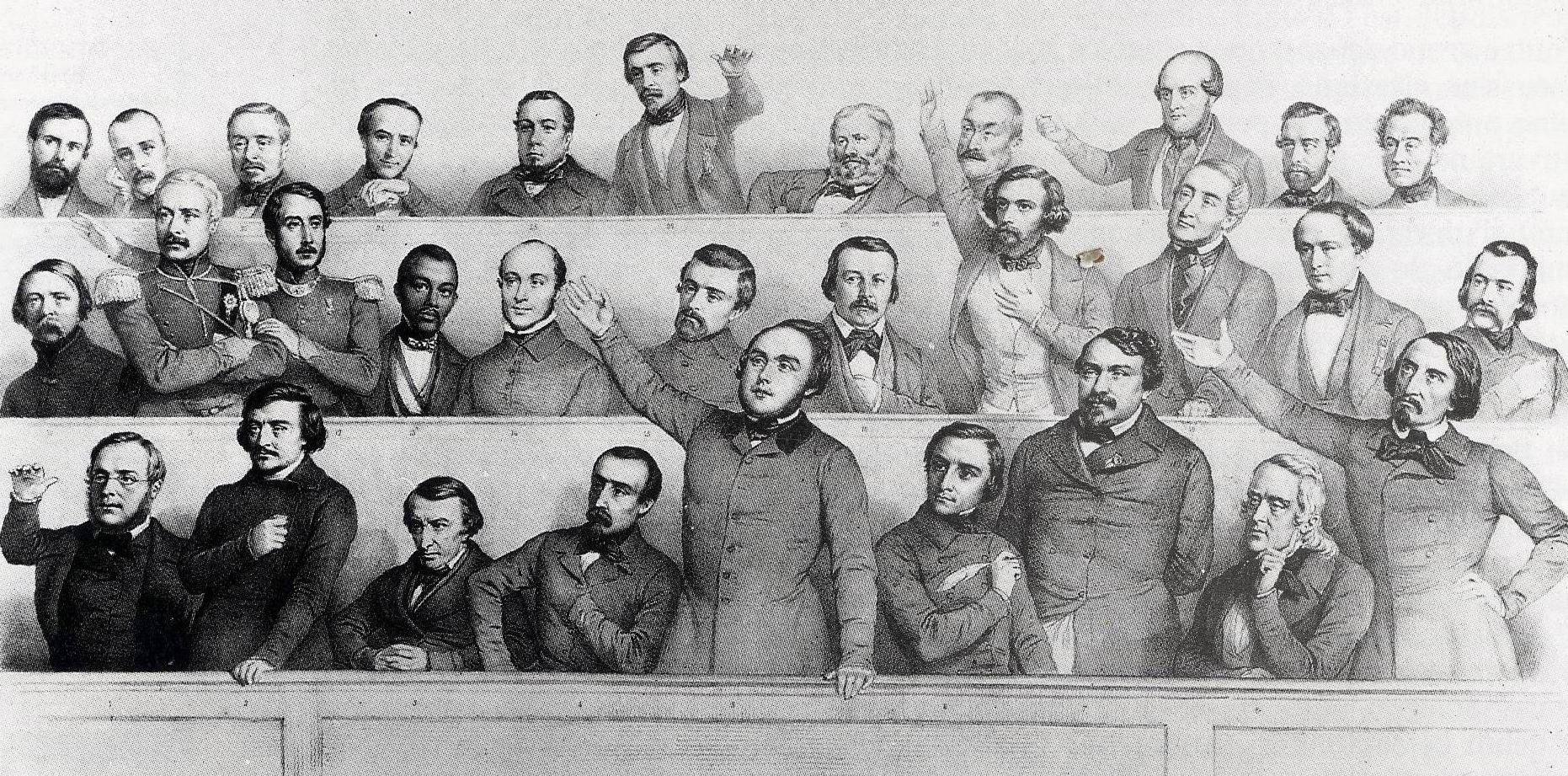 """Le groupe """"La Montagne"""" à l'Assemblée en 1849"""