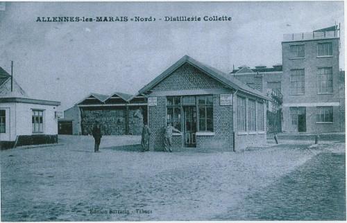 Vue depuis la cour de la distillerie Collette à Allennes-les-Marais