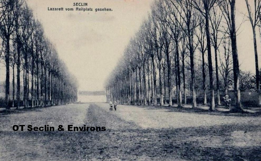 Vue de la Drève pendant la Grande Guerre