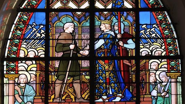 Detail of a Stained-glass Window - Bouvines's Saint Pierre Church