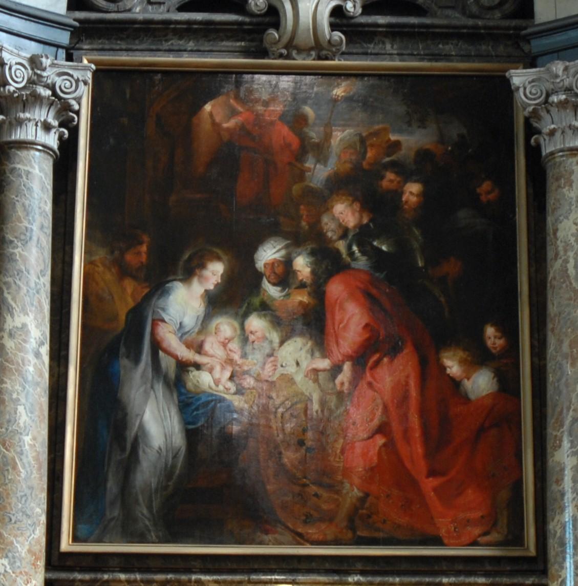 Rubens - l'Adoration des Mages (Tryptique église St Jean de Malines)