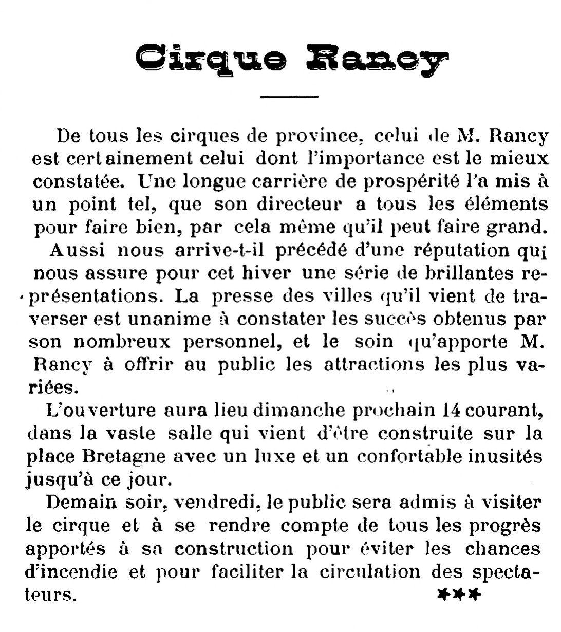 Gazette artistique de Nantes - 11 décembre 1890