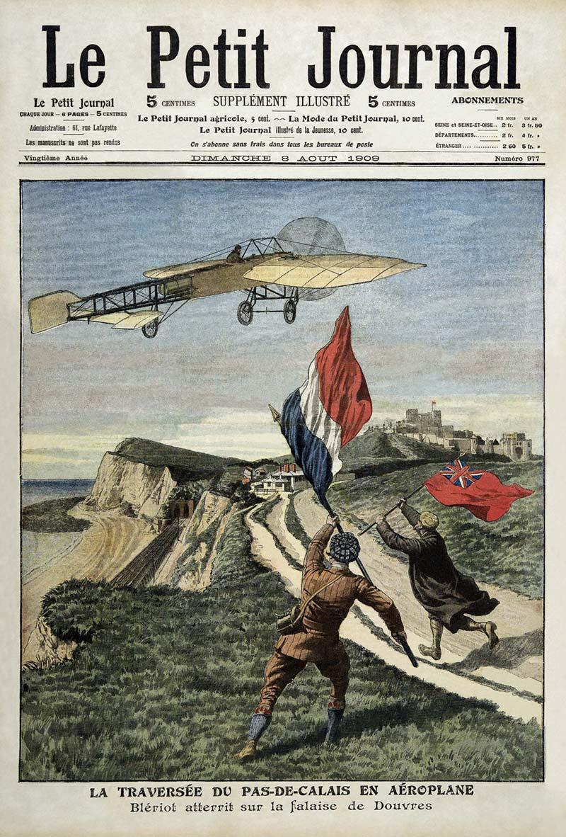 Le Petit Journal - première page édition du 9 Août 1909