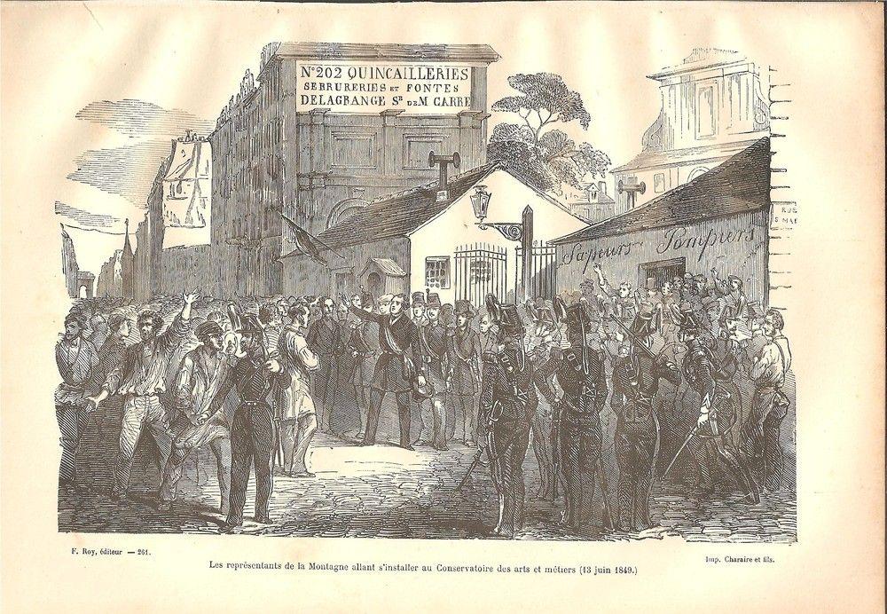 La répression de Juin 1849 contre les Démocrates-Socialistes