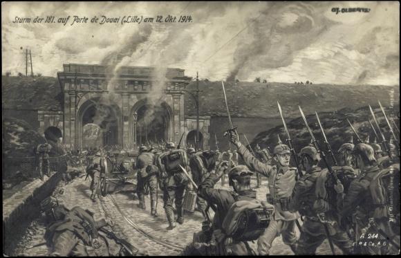 12 Octobre 1914 : attaque Allemande de Lille par la Porte de Douai
