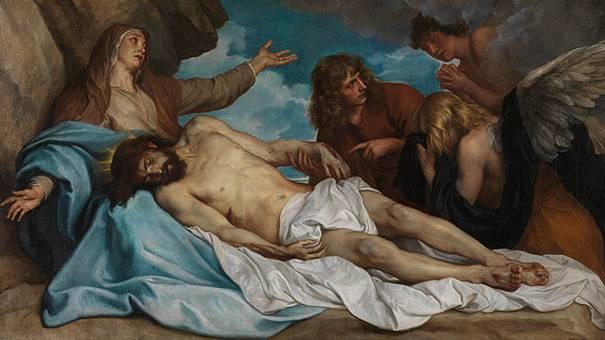 Anthony Van Dyck - La déploration du Christ - 1635 - Tableau exposé à Anvers