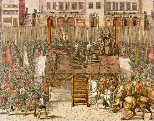 L'exécution publique le 5 Juin 1568 d'Egmont et Hornes