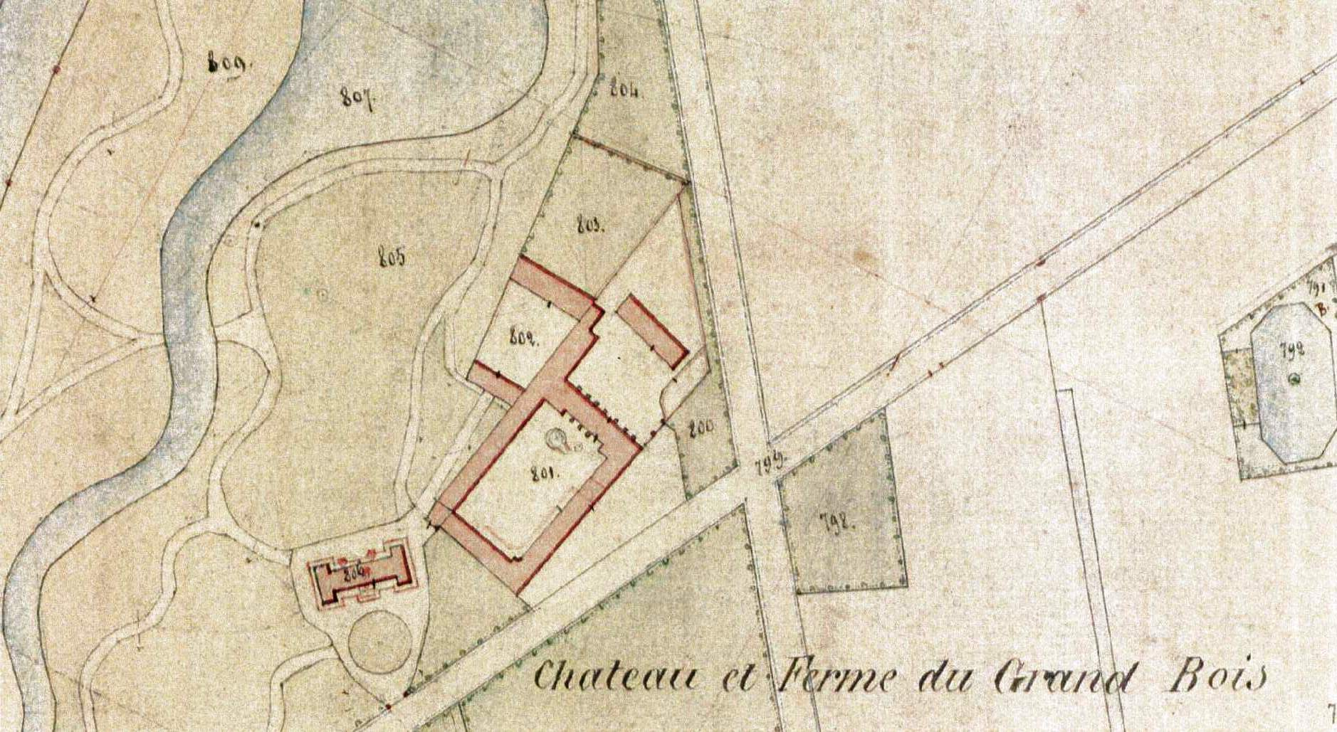 Plan cadastre de 1857 - détail (source ADN - P31/174)