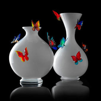 "Vase ""Farfalle"" - 2009 Verre de Murano soufflé"