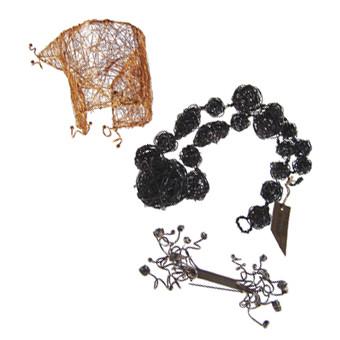 jewel in metal wires