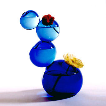 """Vase """"Bloub"""" - 1995 Verre de Murano soufflé"""