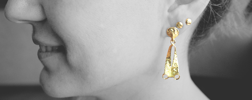 Fucina Longobarda Mazzola earrings, unique style objects!
