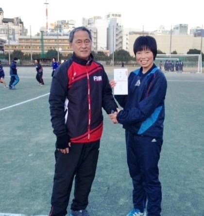 OB/OG会から関東選抜支援金を寄贈いたしました。