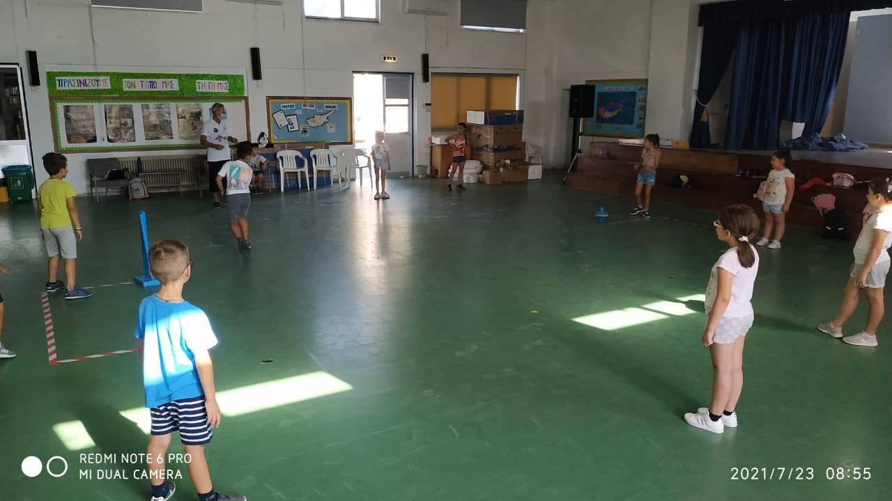 Youth cricket activity at Arakapas Summer School