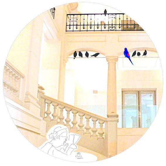 L'oiseau bleu - art digital (DIASEC) - Collect. privée