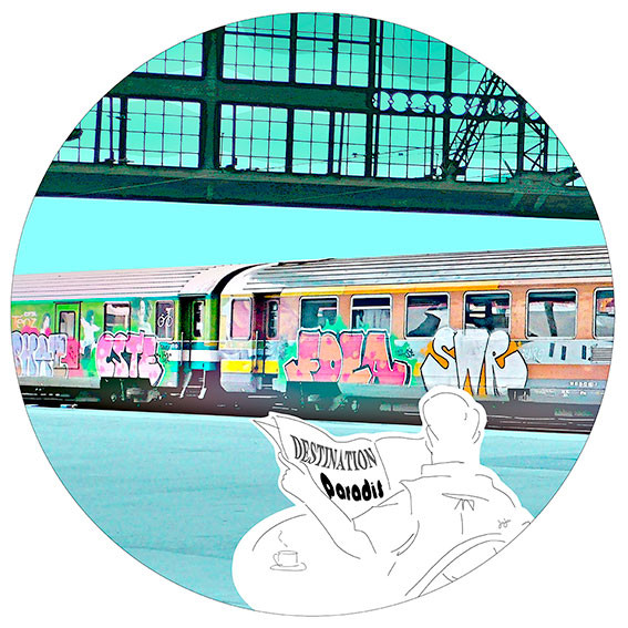Destination paradis - art digital (DIASEC)- Collect. privée