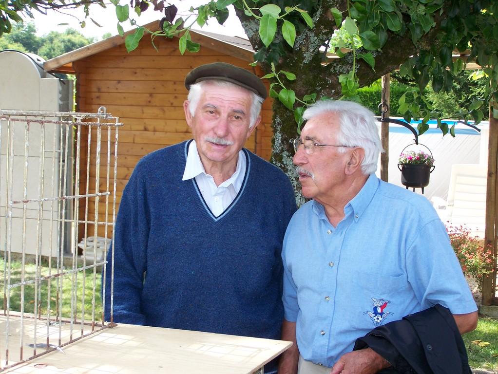 Nos deux retraités, René Doumain et Maurice Alonso