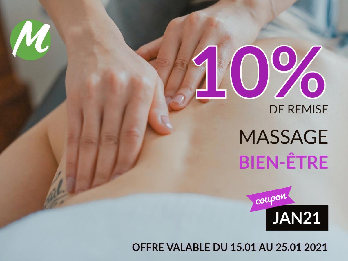 Remise de 10 % sur votre prochain massage