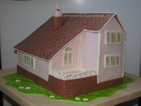Сделать домик из мастики фото