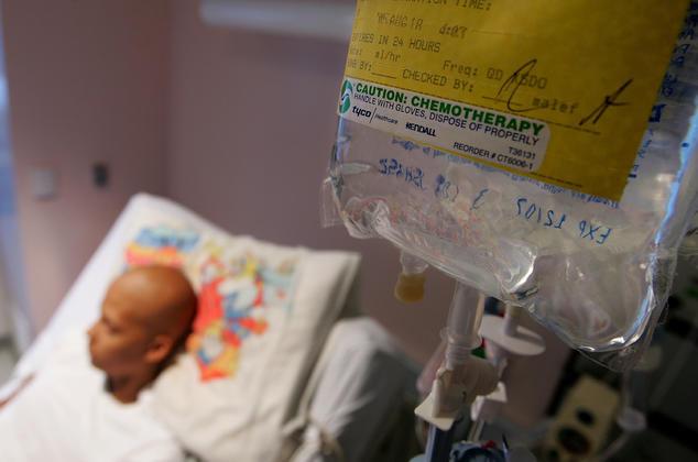Krebspatient wird mit Chemotherapie behandelt.