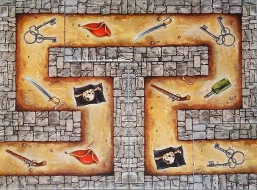 `Cartagena 1´ Spielplan, erschienen bei Winning Moves