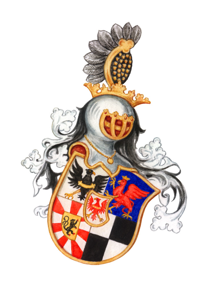 Wappen `Markgraf zu Brandenburg´, Aquarell auf Papier, 2006