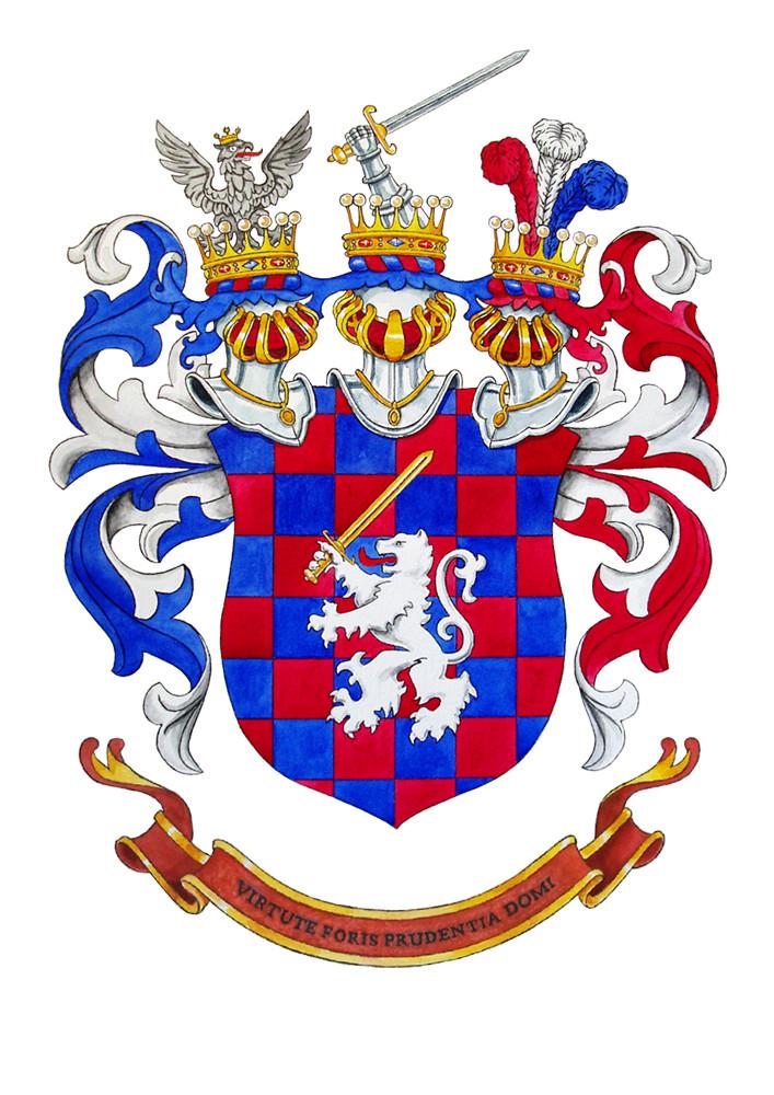 Wappen `Bittner von Bitterthal´, Aquarell auf Papier, 2015