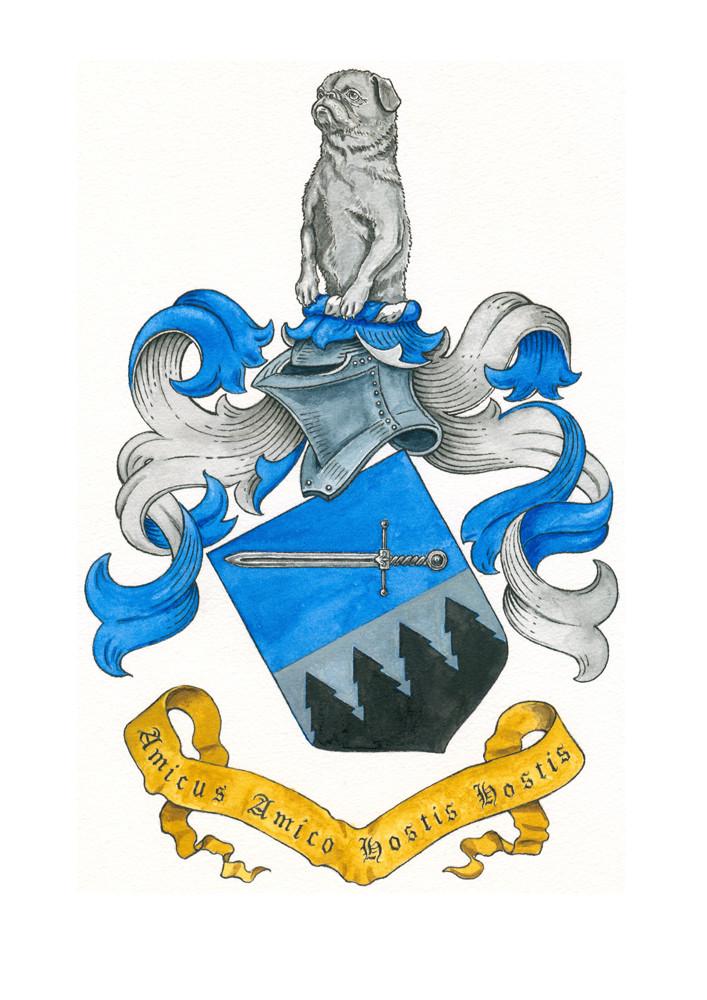 Wappen `Onika´, Aquarell auf Papier, 2015